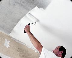 Покраска потолка 2 слоя